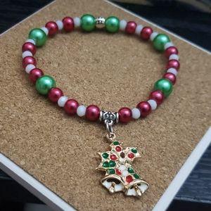 Handmade Christmas bells 7 1/4 bracelet